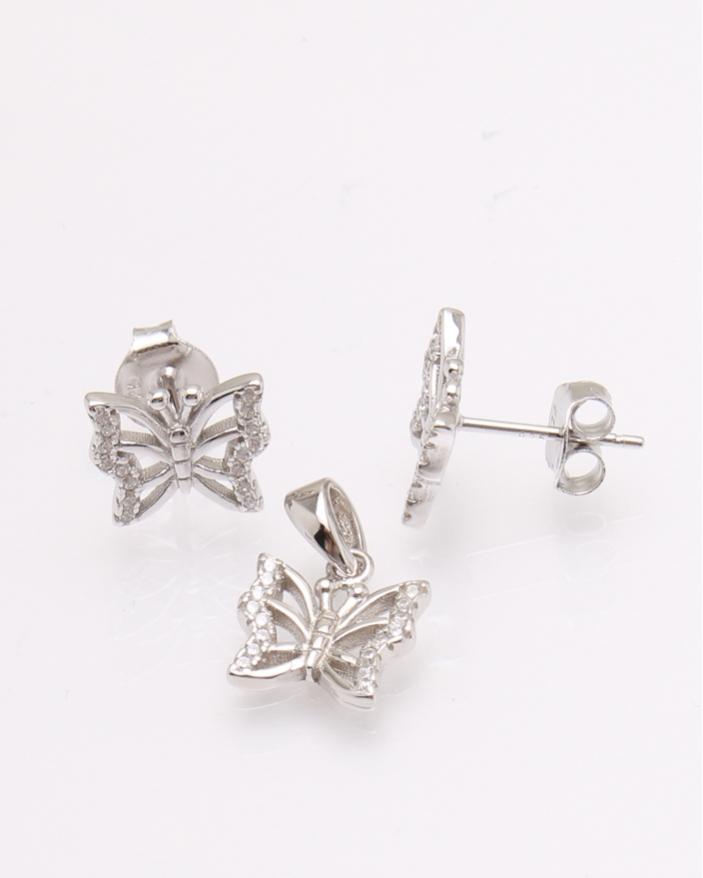 Set argint fluture cod 3-30842, gr2.8