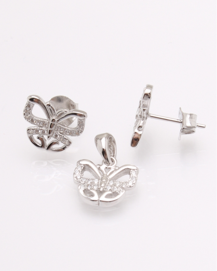 Set argint fluture cod 3-30844, gr3