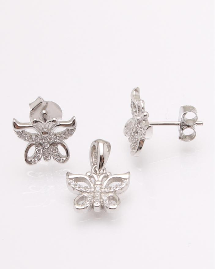 Set argint fluture cod 3-30845, gr3