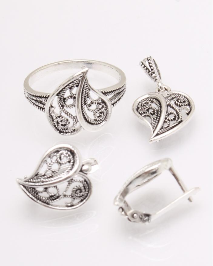 Set argint inima cod 3-31386, gr7