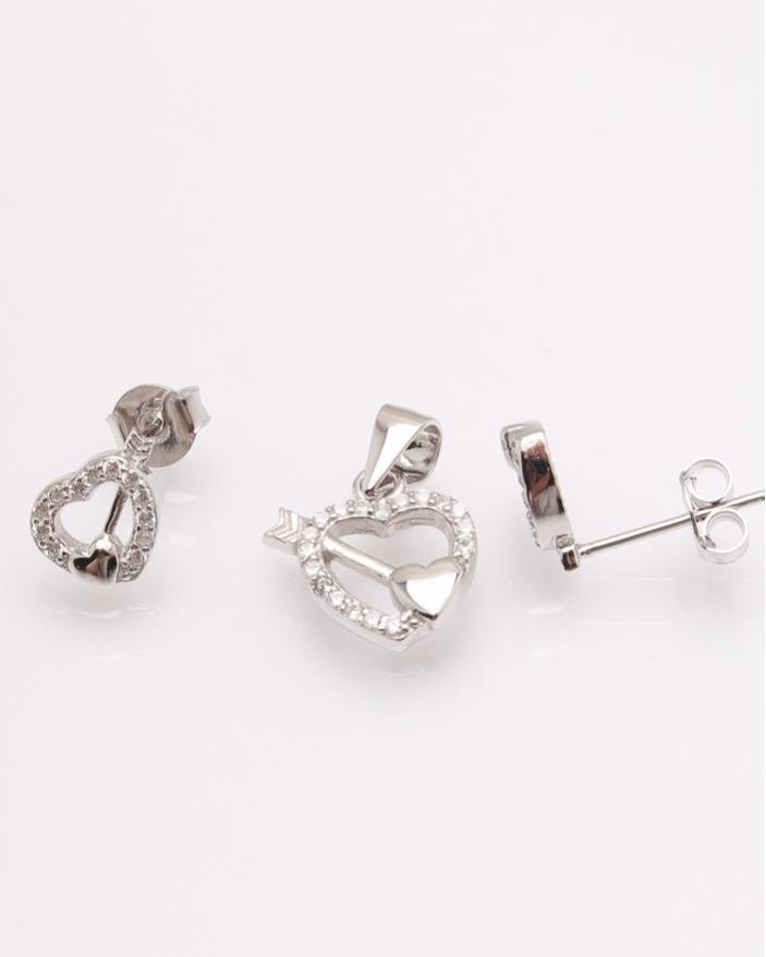 Set argint inima cod 3-31530, gr2.2