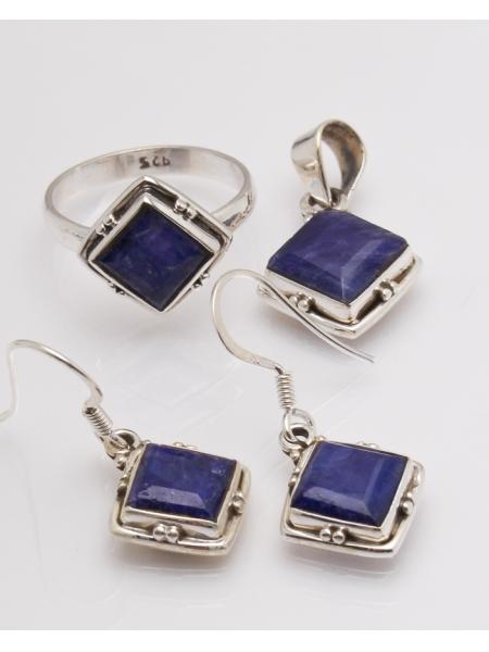 Set argint cu lapis lazuli cod 3-32616, gr9.8