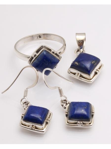 Set argint cu lapis lazuli cod 3-32619, gr10.5