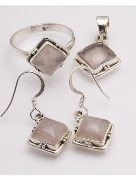 Set argint cuart roz cod 3-32621, gr10.1