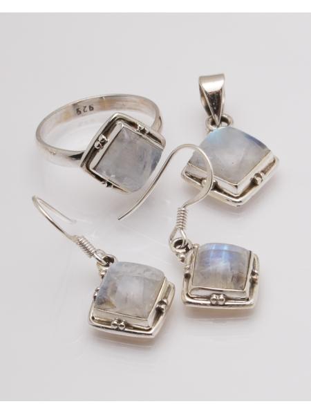 Set argint cu opal cod 3-32622, gr10.1