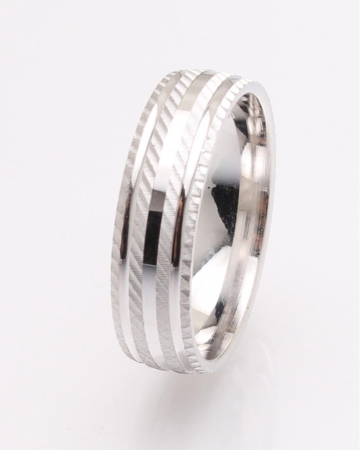 Inel argint rodiat cu model cod 1-25940, gr5